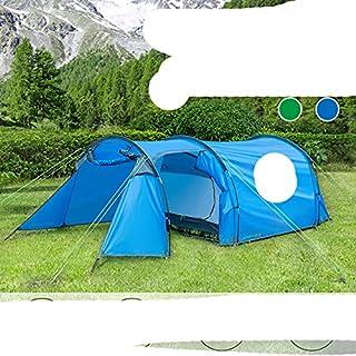 Campingtunneltält för 3 personer utomhus ultralätt vattentätt dubbelväggigt tält skydd hela säsongen med bärväska