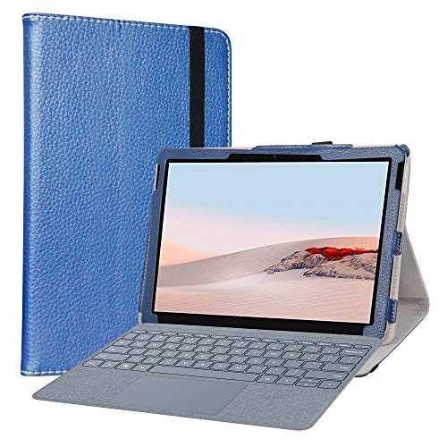 LiuShan Compatible with Microsoft Surface Go 2 Case,PU Leather Slim Folding Stand Cover for Microsoft Surface Go 2 2020 / Surface G0 10' 2018 Tablet (Not Fit New Microsoft Surface Pro X Tablet),Blue