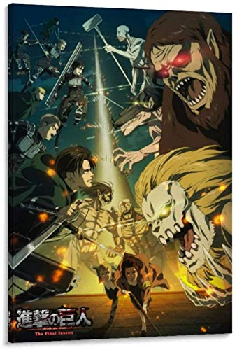 Posters Canvas Art on The Walls of The Bedroom and Living Room Anime Attack on Titan The Final Season 4 Elegant Canvas Wall Art 12x18inch(30x45cm)