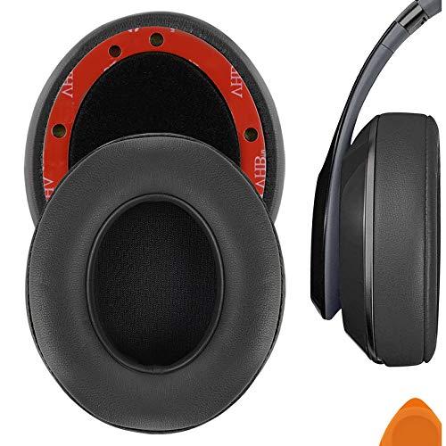 Geekria Performance Almohadillas de Piel de proteína para Auriculares Studio 3, Studio 2, Studio B0500 / Wireless B0501 (Gris/Extra Grueso)