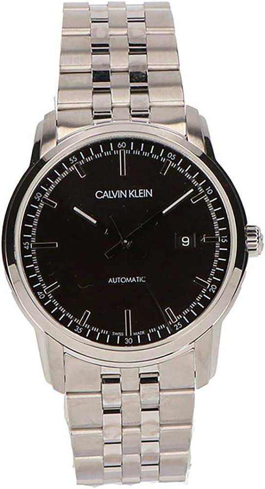 Calvin klein, orologio analogico automatico per uomo,  in acciaio inossidabile K5S3414Y
