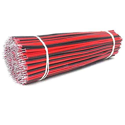 XINCOL Câble d'extension 2 fils rouge/noir pour bandes LED Le fil électrique de Hookup LED bande le fil d'extension Extension de fil flexible pour la bande LED 2 × 0,3 mm2,30CM×200 pcs