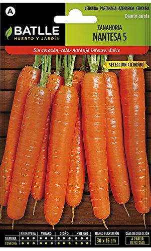 Semillas Hortícolas - Zanahoria Nantesa 5 sel. Cilindro - Batlle