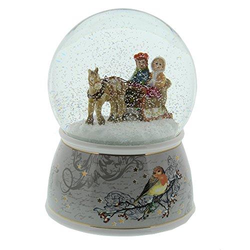 Goebel - Schneekugel - Auf dem Weg zum Weihnachtsmarkt - mit Musikwerk