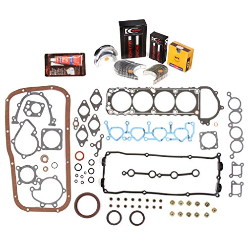 Evergreen Engine Rering Kit FSBRR3027 Compatible With 95-99 Nissan 240SX KA24DE Full Gasket Set, Standard Size Main Rod Bearings, Standard Size Piston Rings