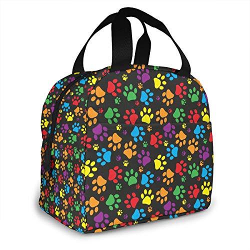 Bolsas de almuerzo para niñas, niños y mujeres, aisladas, con bolsillo frontal para escuela, oficina, pícnic