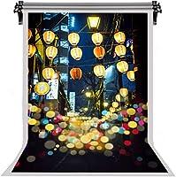 HDシティナイトコットンの背景ランタンの色ドット写真の背景芸術的なポートレート写真スタジオの小道具5x7ftLYFS397