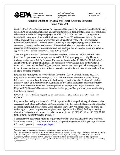 Funding Guidance for State and Tribal Response Programs Fiscal Year 2014 (English Edition)