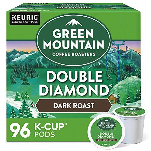 Green Mountain Coffee Roasters Double Diamond, Single-Serve Keurig K-Cup Pods, Dark Roast Coffee Pods, 96 Count