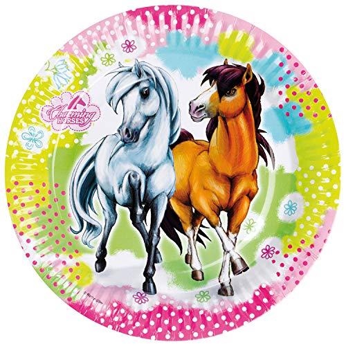 amscan falksson RM552341 Charming Horses Plato carton 8 Unidades