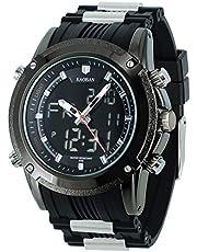 腕時計 メンズ 軍事腕時計 ミリタリー スポーツ 多機能腕時計 曜日日付表示 アナデジ アラーム ストップウォッチ 男性時計