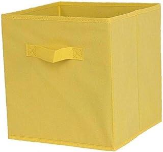 Tissu Panier Bin Boîtes De Rangement De Rangement Pliable Cubes Organisateur Avec Poignées Boîtes Jaunes De Stockage