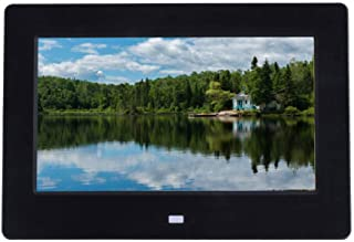 Digital Photo Frame 7 Inch, 1024x600 Full HD 16:9 IPS Display with Music/Video Player Calendar Alarm/Auto On/Off Timer, Su...