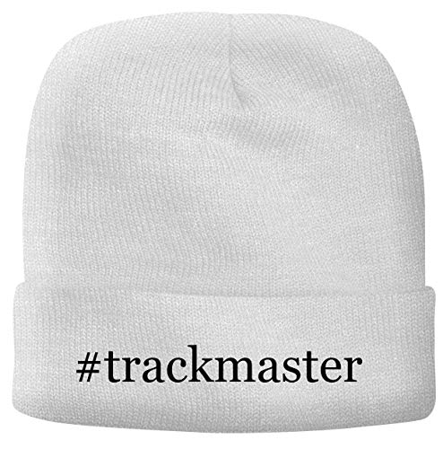 BH Cool Designs #Trackmaster - Men's Hashtag Soft & Comfortable Beanie Hat Cap, White, One Size