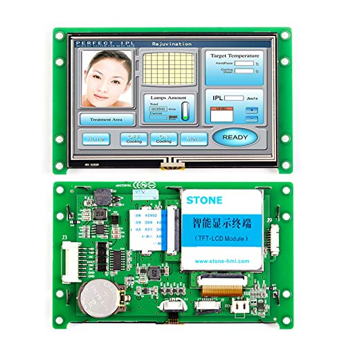 SCBRHMI 4,3 Zoll HMI Touchpanel, Tft Touch Monitor mit Treiber + LCD Controller + Software entwickeln + RS485 RS232 TTL UART-Schnittstelle STVA043WT-01
