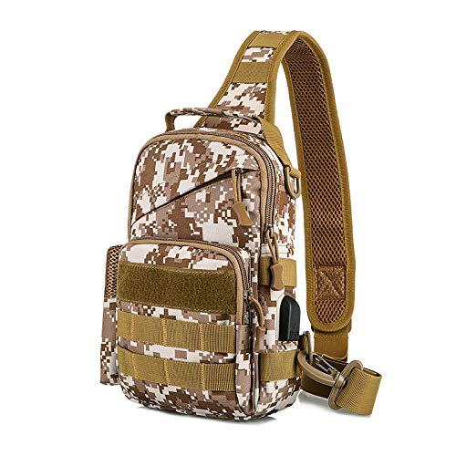 PIN XIU Kettle Set Brusttasche Tote Ride Sport Brusttasche Outdoor Tactical Umhängetasche Travel Business Mit USB Charging Brusttasche Casual Bag