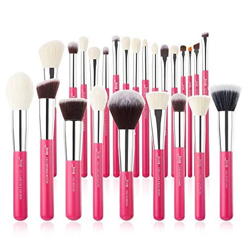 Juego 25 pzas. de brochas de maquillaje profesional de marca Jessup Base de maquillaje Belleza Cosm¡§|tica Power Blushes pesta?as L¡§¡épiz labial Cepillo de pelo natural-sint¡§|tico