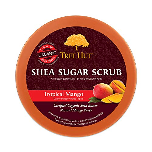 Tree Hut Shea Sugar Scrub Tropical Mango, 18oz, Ultra Hydrating and Exfoliating Scrub for Nourishing Essential Body Care