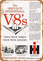 1958ヘビーデューティインターナショナルトラックV-8エンジンコレクティブルウォールアート