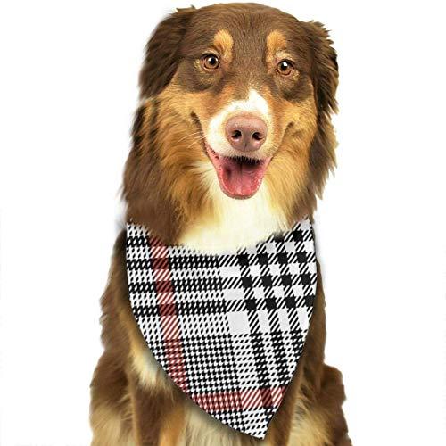 hgdfhfgd Hundeschal Glen Plaid Pattern Nahtloses Tweed Check Pet Bandanas Dreieck Lätzchen Verstellbares Kopftuch