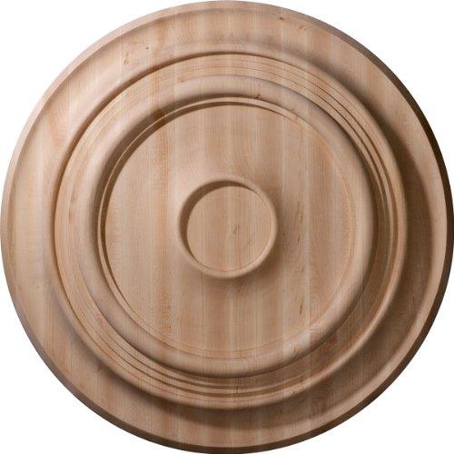 Ekena Millwork CMW24TRMA - Medallón de techo tradicional tallado (24 pulgadas OD x 2 1/4 pulgadas P tallado, arce