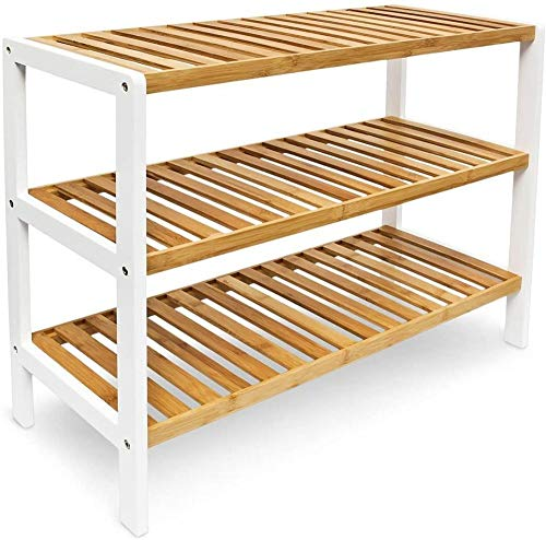 A-Generic Estantes de bambú para Zapatos de 3 Niveles, Organizador de estantes para Almacenamiento, 12 Pares de Zapatos, 70 x 26 x 55cms, Ideal para Pasillo, Sala de Estar, baño, Dormitorio o Pasillo