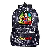 Mochila Dragon Ball Goku Anime Mochila Super Sai-YAN Mochila Escolar de Gran Capacidad para...