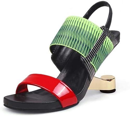 GHFJDO Sandales compensées pour Femmes, Chaussures de Printemps et d'été d'été pour Hommes,vert,37EU  commandez maintenant profitez de gros rabais