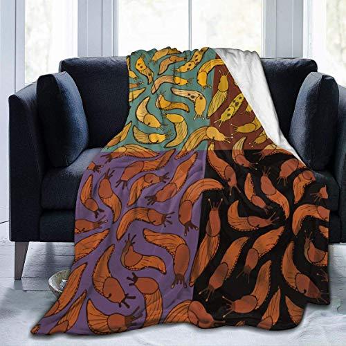 256 Manta de forro polar para sofá – Banana Slug – suave, mullida, mullida, sherpa, acogedora – perfecta para cama, sofá de 50 x 40 pulgadas