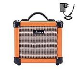 Asmuse™Gitarrenverstärker Mini 10W Electric Guitar Amplifier Portable Combo Amp mit Verzerrungseffekt 5 Zoll Eingebauter Lautsprecher