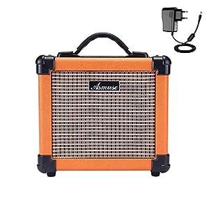 Asmuse Amplificatore Chitarra Elettrica Portatile da 10W Ampli Combo con Effetto di Distorsione 2 Banda EQ Basso Treble…