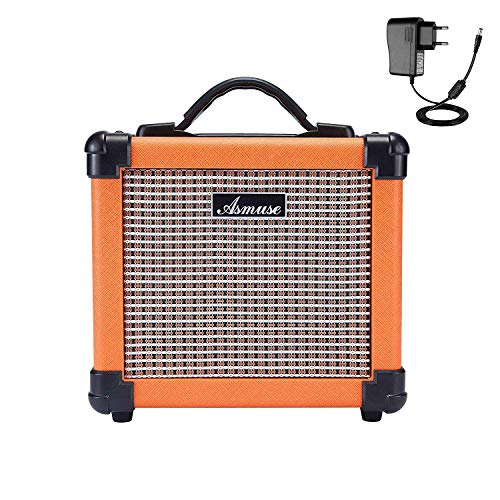 Asmuse Amplificador de Guitarra Eléctrico Portatil Bajo Combo Instrumentos Mini Amplificador Práctica...