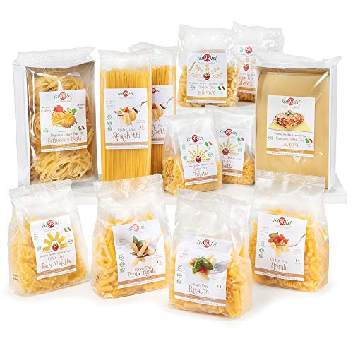 isiBisi Gluten Free Pasta Sampler - Made with Rice and Corn Flour - Quality, Authentic Gluten Free Noodles - Vegan, Non-GMO Bulk Pasta - Made in Italy (8.75 Pound (Pack of 12))