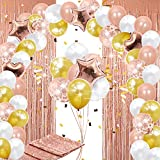 115 pc Rose Gold Balloon Arch Kit. Balloon Garland Kit with Party Decorations for Birthday, Bridal Shower Decorating, Baby Shower, Quinceanera, Graduation or Wedding.