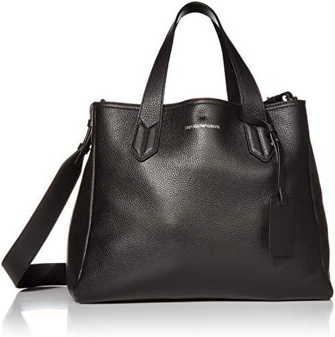 Emporio Armani Designer Slouchy Leather Tote Black product image