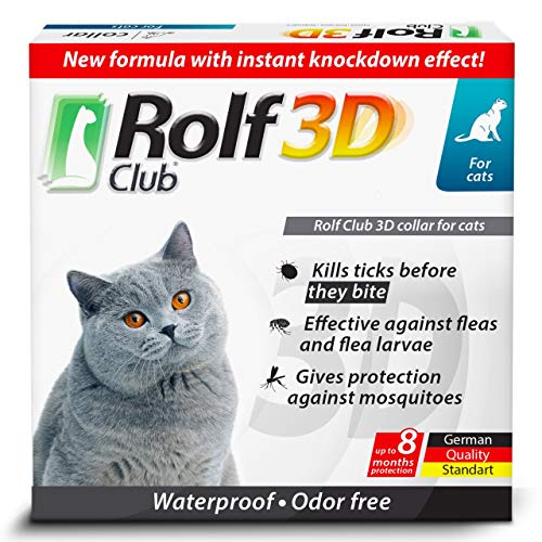 Rolf Club 3D FLEA Collar for Cats - Flea and Tick Prevention for Cats - Cats...