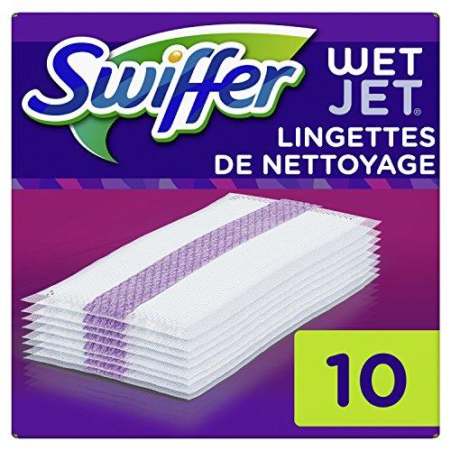 Swiffer Wetjet Broom Spray Refill Chiffons de Nettoyage pour Tous les sols 4 x10