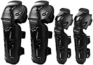 Webetop Elbow and Knee Pads Adult Dirt Bike Shin Guards Protective Gear Set 4pc