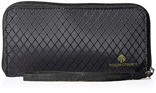 Eagle Creek RFID Wristlet Wallet Passport Holder, Jet Black, One Size