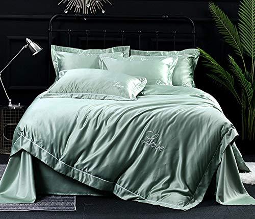 stspd nieuwe water wassen vezel zijde katoen beddengoed borduurwerk eenkleurig beddengoed dekbed kussensloop 245 cm * 270 cm wit grijs