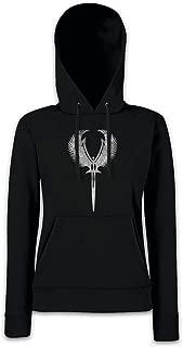 Urban Backwoods Valkyrie Sword Symbol Women Hoodie Hooded Sweatshirt Pullover