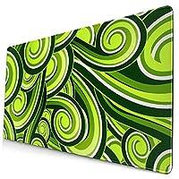マウスパッド 緑の波 超大型 ゲーミングマウスパッド おしゃれ 防水 滑り止め 耐久性が良い