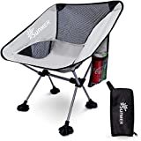 SUNMER Portable Camping Chair - Compact Ultralight Folding Backpack Chair, Small Collapsible Lightweight Outdoor Seat for Picnics, Hiking, Camping