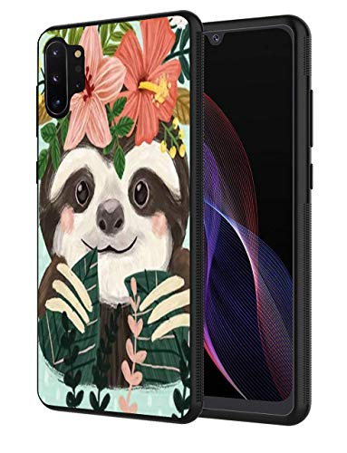 Note 10 Plus case, Slim Anti-Scratch Shockproof Silicone TPU Protective Cover for Samsung Galaxy Note 10 Plus/Note 10 Plus 5G, Sloth Painting