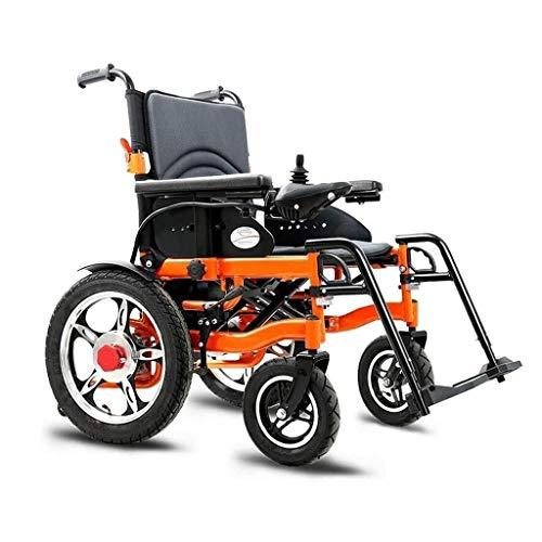LBWT lichte, elektrische rolstoel, inklapbaar, draagbaar, met wielen en wielen, intelligent, met vier wielen, 360 graden joystick, dubbele motor, cadeau