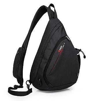 KAKA Sling Bag Crossbody Shoulder Sling Backpack with USB Charging port Casual Travel/Outdoor/Urban Daypacks for men & women