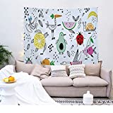 YDyun Tapiz Pared,Tapiz de tapices de Pared de algodón,Colcha de pícnic,Tapices Decorativos Impresión de tapices de Frutas para el hogar