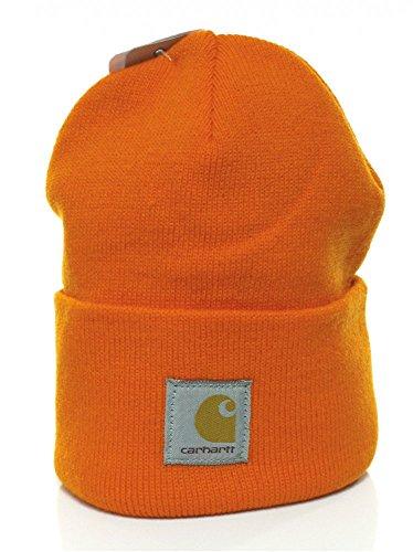 Carhartt - Acrylic Watch Cap -Orange - Strickmütze Mützen Hüte Beanie Winter Hut