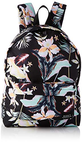 Roxy Sugar Baby Printed-Backpack, Mujer, ANTHRACITE PRASLIN S, One Size
