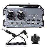 Mezclador de entrada de audio COMICA CVM-AX3, con cabezal XLR doble/interfaz de extensión de entrada de 6,35 mm/3,5 mm, mezclador de grabación, videocámara de cámara combinada, para mezcla musical
